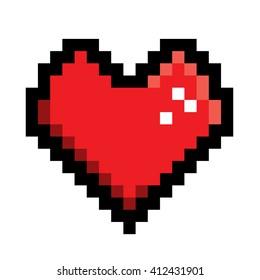 Heart in pixel style