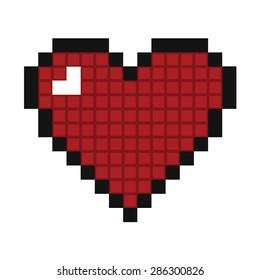 heart pixel vector icon