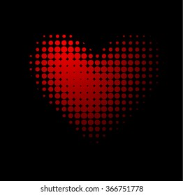 Heart of points. Happy Valentine's Day. Vector