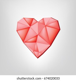 Love Triangle Logo Vector Stock Vector Royalty Free 500646010