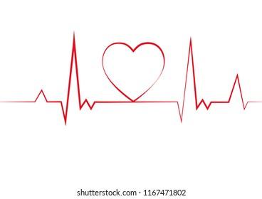 Heart pulse. Cardiogram. vector illustration