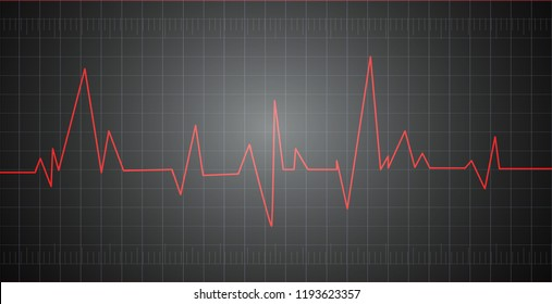 Heart pulse graphic. Vector illustration, eps 10.