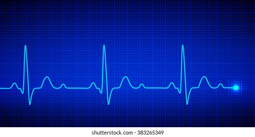 Heart pulse graphic. Vector illustration.