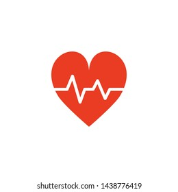 heart pulse icon vector design template