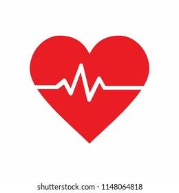 heart pulse icon vector illustration, emoji