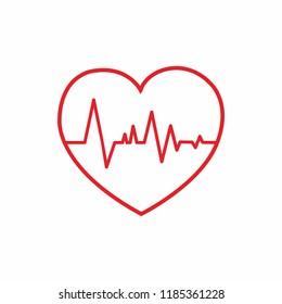 heart pulse icon vector illustration