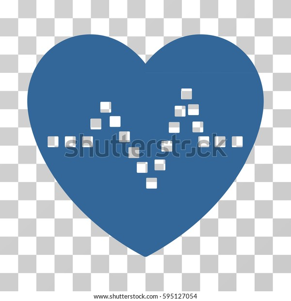 Heart Pulse icon. Vector illustration style is flat iconic symbol, cobalt color, transparent background. Designed for web and software interfaces.