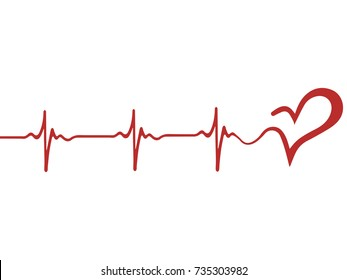 Heart pulse, one line