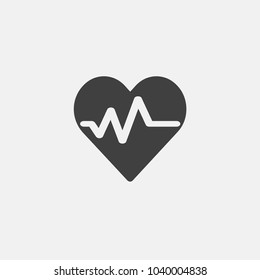 heart pulse vector icon