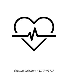 heart and pulse vector icon