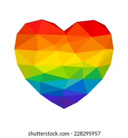 Heart in Rainbow Colors Gay Lesbian LGBT