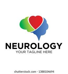 Heart Rainbow Neurology Logo Template