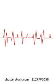 Heart rate graphic. Vector illustration. (Electrocardiogram or ECG)