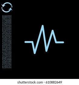 heart rate icon. vector illustration
