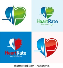 Heart Rate - Vector Illustration - Icon and Logo