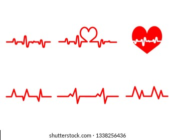 heart rate , heart wave. Design by Inkscape.