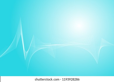 Heart rate wave lines abstract background