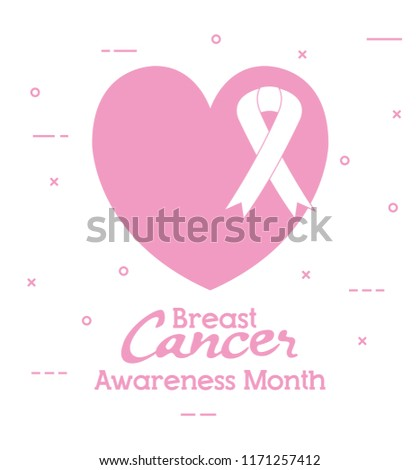 edcb5f5e65f Heart Ribbon Breast Cancer Icons Stock Vector (Royalty Free ...