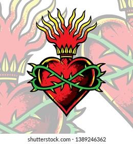 heart sacred tattoo illustration love