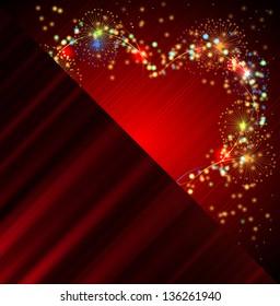 Heart salute valentine banner background