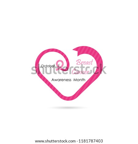 5b1a69c8279 Heart Shape Breast Icon Breast Cancer October Stock Vector (Royalty ...