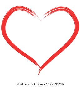 heart shape with brush and love symbol