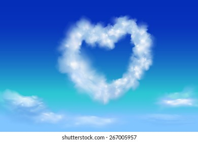 heart shape from cloud