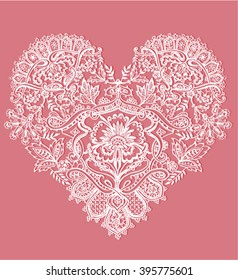 Heart shape with floral ornament