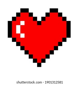The heart shape symbol isolated on white background. Metaphorical or symbolic ideograph of love and affection.