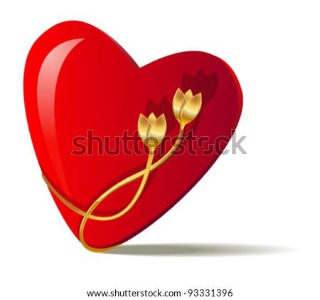Heart Shape Symbol Love Made Each Stock Vector Royalty Free