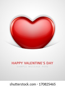 Heart shape vector background. Valentines day.