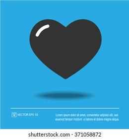 Heart shape vector icon eps 10. Valentine symbol.