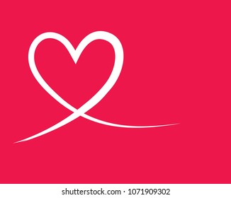 Heart shape vector, sketch illustration can be used for design of valentine, wedding, love theme romantic