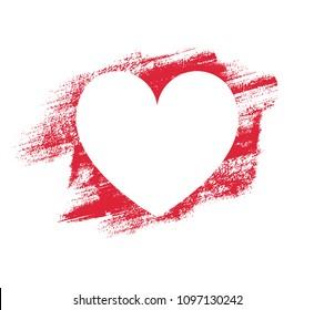 Heart shape vector, sketch illustration. Design element