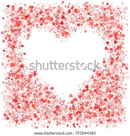heart shaped invitation card template valentine stock vector