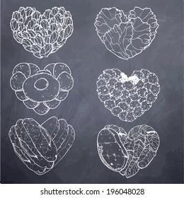 Heart Shape-Food-Chalk Board