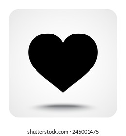 Heart sign icon, vector illustration. Flat design style
