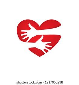 Heart sign for Valentine day. Vector illustration