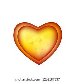 heart sign in white background, vector illustration.