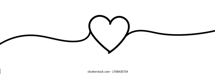 Heart sketch doodle. Tangled grungy round scribble hand drawn with thin line. Isolated on white background. Vector illustration