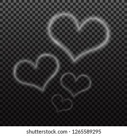 heart smoke. abstract illustration