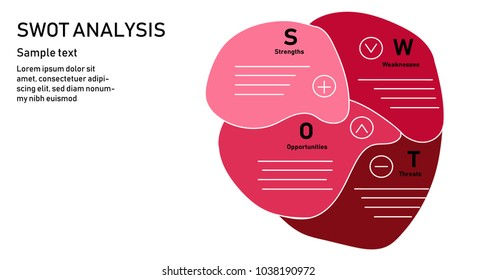 Heart of SWOT Analysis Business Strategy Diagram.SWOT analysis marketing template.Vector illustration design.Business and vector concept.