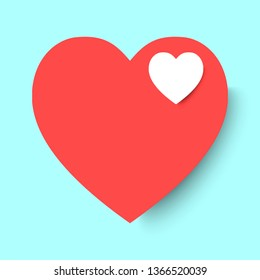 Heart symbol for background