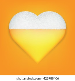 Heart Symbol With Beer Inside