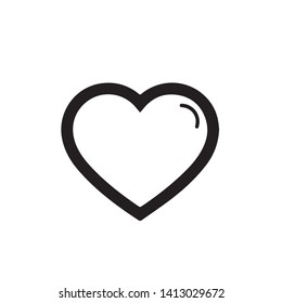 Heart symbol, icon, black, on a white background