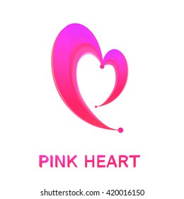 Heart symbol logo icon design template. Pink Heart. It can be used as a logo for the business, such as web, radio, and others.