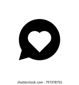 Heart. Symbol of love, romantic, health, cardio. Isolated vector icon, sign, emblem, pictogram. Flat style for design, web, logo or UI. Eps10