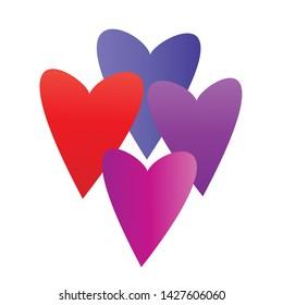 Heart symbol vector. Flat illustration