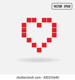 Heart symbol, Vector illustration