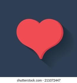 Heart symbol,clean vector
